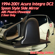 SPN Style Side Mirrors ABS Black (Power) Fits 94-01 Acura Integra 2dr