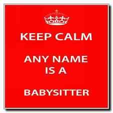 Babysitter Personalised Keep Calm Coaster