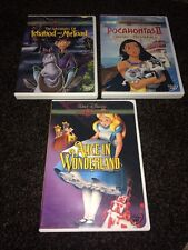 LOT OF 3 DISNEY GOLD COLLECTION DVDS DVD DISCS LIKE NEW ALICE IN WONDERLAND E3