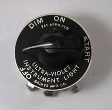 RAF USAF Aircraft Cockpit UV Dimmer Switch 105C 1133 P-51 Mustang