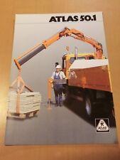 Prospekt ATLAS Weyhausen Ladekran 50.1 Ausgabe 1992