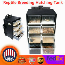 4 Layer Reptile Breeding Box Acrylic Terrarium Pet Insect Spiders Lizard Cage