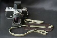 Italian Leather Camera Neck Shoulder Strap leica nikon contax green and brown