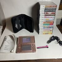 NINTENDO DS LITE BUNDLE  Pink Console with 16 Complete Games& Acc