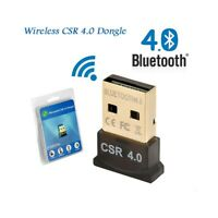 USB BLUETOOTH V4.0 MINI WIRELESS CSR DONGLE ADATTATORE WIFI PER WINDOWS PC.