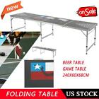 Waterproof Portable Game Table for Camping BBQ Party Beer Folding Game Desk