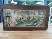 Antique Table Croquet Incredible Graphics Dovetail Corners 1800s Table Game