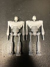 "Vintage 1999 Warner Bros Iron Giant figure Movie Promo 4"" Set of 2"
