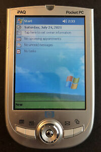 HP IPAQ H1900 POCKET PC 2002 311323-001 WORKING & TESTED ORIG STYLUS METAL CASE