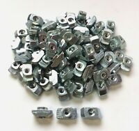 Lot of 100 Bosch Rexroth 3842530281 10mm T-Nut Fasteners M4 Thread for Extrusion
