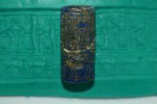 Rare Ancient Sumarian Lapis Lazuli Cylinder Seal Pendant With Beautiful Writing