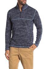 Vintage 1946 Frosty Horizontal Jacquard Quarter Zip Sweater Blue Large L
