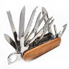 Wood Folding Pocket Swiss Army Knife Swisschamp Military Survival Multi Tool