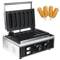 Stainless steel 6 pcs Sticks waffle maker waffle machine Corn Hot Dog Machine