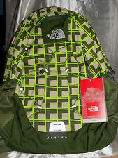 The North Face Jester Backpack Tree Frog Green Plaid New