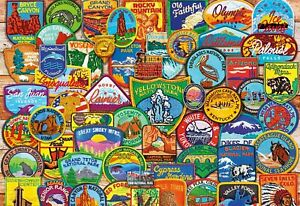 Buffalo Games - National Park Patches Jigsaw Puzzle (2000 Pieces)