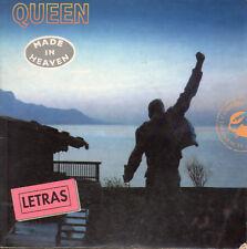 "Queen - Freddie Mercury "" Made In Heaven "" Espagnol Lyrics Book / Miguel"
