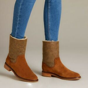 Clarks Clarkdale Ax Hot Womens Brown Suede Mid Calf Boot UK Size 5