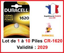 Lot de 1 à 10 Pile CR-1620 / DL-1620 DURACELL bouton Lithium 3V DLC 2026