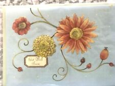 PAPYRUS Get Well Soon Card 3D laser-Cut Flowers with Glitter- envelope is faded