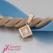 feiner Anhänger-Solitär mit 1 Brillant (Diamant) ca. 0,20ct - 14K/585 Gelbgold