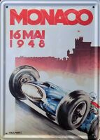 Platte Metall Vintage Monaco Großer Preis 1948 - 15 X 21 CM