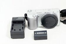 Sony Alpha NEX-F3 16.1MP Digital Camera Silver Camera Body ONLY 8K SHUTTER COUNT