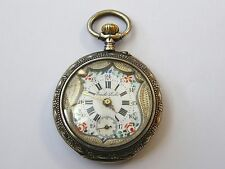 Antique-Swiss Solid Silver Ornate Pocket Watch-Richard Emile Locle-Repairs-c1910