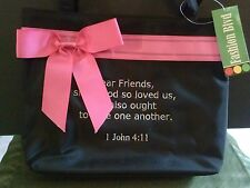 Bible Verse Purse 1 John 4:11 Love One Another Embroidered Hand Bag Church
