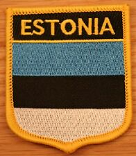 ESTONIA Estonian Shield Country Flag Embroidered PATCH Badge P1