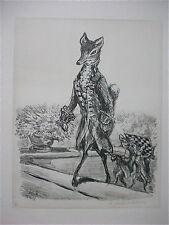 A. PAUL WEBER, Original Lithographie 1976, signiert, Der Schachgroßmeister