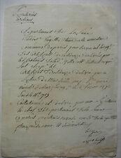 Certificat de Résidence délivré par la Section de Marseille. 1797.