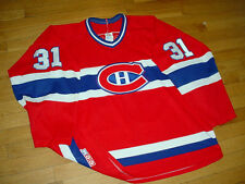 VINTAGE CCM MONTREAL CANADIENS HOCKEY JERSEY #31 SEWN-ON MEN L MASKA AIR-KNIT