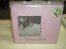 NewBubba Blue Bamboo Baby jersey Wrap 100cm x 100cm Gift Bag Pink