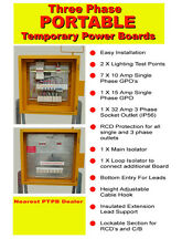 3 Phase Portable Temporary Power Boards for building site use