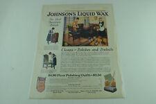 Johnson's Liquid Wax Full Page Print Ad 493