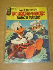 DONALD DUCK BEACH PARTY #1 VG (4.0) GOLD KEY COMICS WALT DISNEY SEPTEMBER 1965