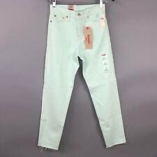 Levis Womens Jeans Size 25 / 0 Green Wedgie Icon High Rise Relaxed Anthropologie