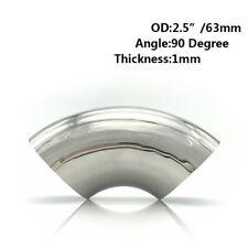"Stainless Steel Elbow 90 Degree Pipe Tube Bend Fitting Mandrel 63mm 2.5"" WL"