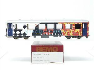 HOm Gauge Bemo 3256 171 RhB Swiss Star(c)kes Stuck 1st Class Passenger Car #1171