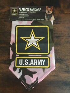 U.S. Army Military Fashion PINK Bandana for Large Dogs   BRAND-NEW!
