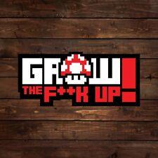 8-Bit Grow the F**k Up (Super Mario) Decal/Sticker