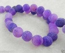 "8mm Purple Dream Fire Dragon Veins Agate Round Gems Loose Beads 15"""