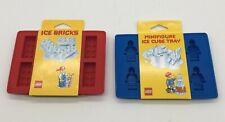 Lego Ice cube trays ice bricks  mini figure new in package dishwasher safe