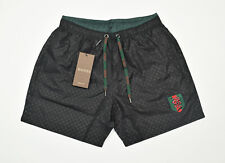 Gucci Mens swim shorts snake embroidery