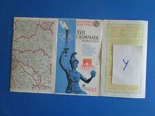 N° 10889  / XVII Olimpiade ROMA 1960 : carte routiére automobile club d'italia