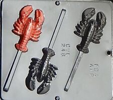 Lobster Lollipop Chocolate Candy Mold 246 NEW