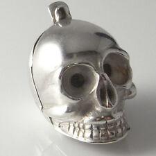 1600s Silver Skull Pomander Pendant Poison Locket Georgian Jewelry Memento Mori