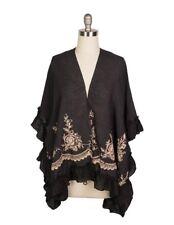 Victorian Trading Co Esperanza Kimono Cardigan Jacket Black One Size