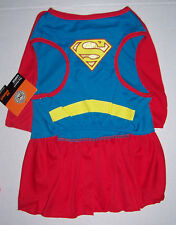DC Comics Supergirl Super Girl Dog Costume Dress Size Large